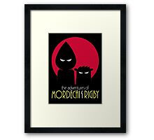 The Adventures of Mordecai & Rigby Framed Print