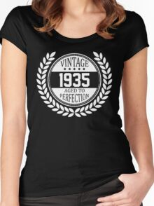 Vintage 1935 Aged To Perfection Women's Fitted Scoop T-Shirt