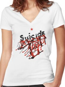 Suicide - Suicide (self-titled) Women's Fitted V-Neck T-Shirt