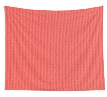 Decorative red knit seamless pattern. Wall Tapestry
