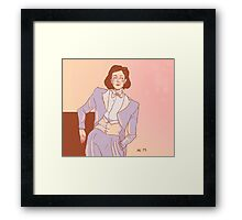 The white tux - Janeway Framed Print