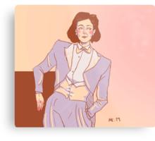 The white tux - Janeway Metal Print