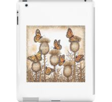 Monarch Butterflies and Spear Thistles iPad Case/Skin