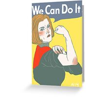 We Can Do It! Captain Janeway Greeting Card