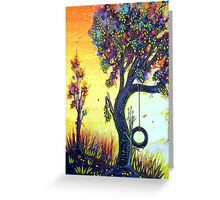 Tree Swing Greeting Card