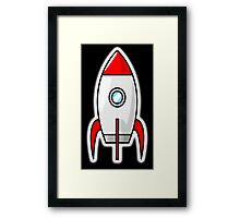 Rocket, Moon Rocket, Cartoon, 1950s Framed Print