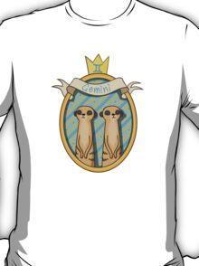 Gemini. Cartoon horoscope. T-Shirt