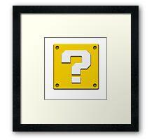 Mario - Block Framed Print