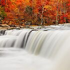 Flowing Water and Fall Leaves by Kenneth Keifer