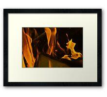 Open Flame Framed Print