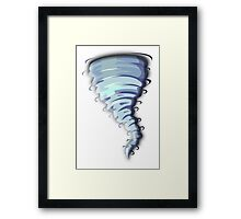 TORNADO, Cartoon, Framed Print