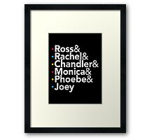 Friends TV Show Helvetica Framed Print