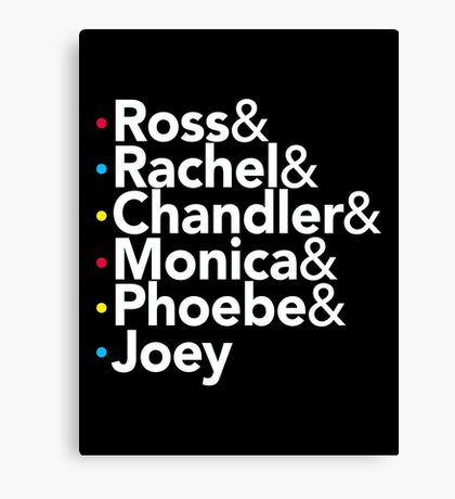 Friends TV Show Helvetica Canvas Print