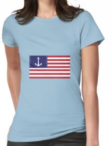 American Anchor Flag Womens Fitted T-Shirt
