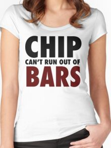 CHIP CAN'T RUN OUT OF BARS - GRIME Women's Fitted Scoop T-Shirt