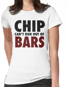 CHIP CAN'T RUN OUT OF BARS - GRIME Womens Fitted T-Shirt