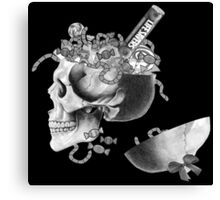 Candy Skull Jar  Canvas Print