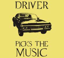 Driver picks the music (Supernatural) Kids Tee