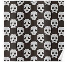 Knitted skull pattern Poster