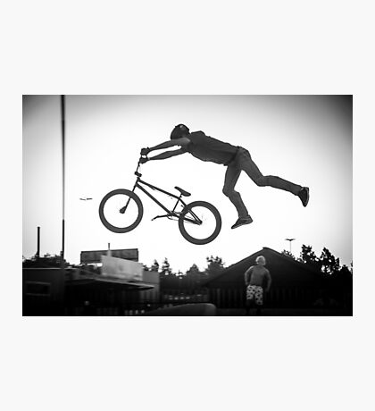 Skate Park Super Man Photographic Print