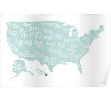 USA state slogans Poster