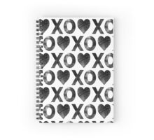 XO Hearts Spiral Notebook