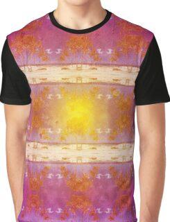 Beach Scene Retro Pattern Graphic T-Shirt