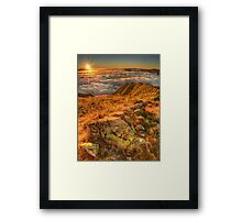 First light in the high country Framed Print