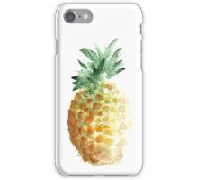 Pineapple Summer Watercolor Painting Hawaii Fruits Drawing Poster iPhone Case/Skin
