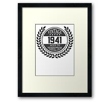 Vintage 1941 Aged To Perfection Framed Print