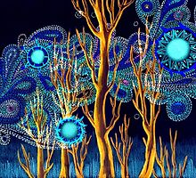 Spiritual Forest Neon Colours by Hazel Partridge