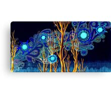 Spiritual Forest Neon Colours Canvas Print
