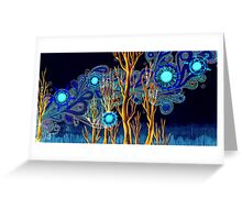 Spiritual Forest Neon Colours Greeting Card
