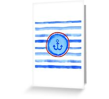 Stripes and anchor. Greeting Card