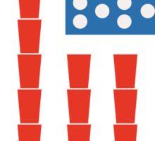 USA Beer Pong Champ Sticker