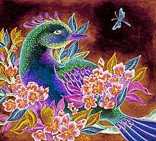 Paradise Bird in Blossoms by Hazel Partridge