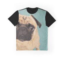 Pug Dog Portrait Graphic T-Shirt