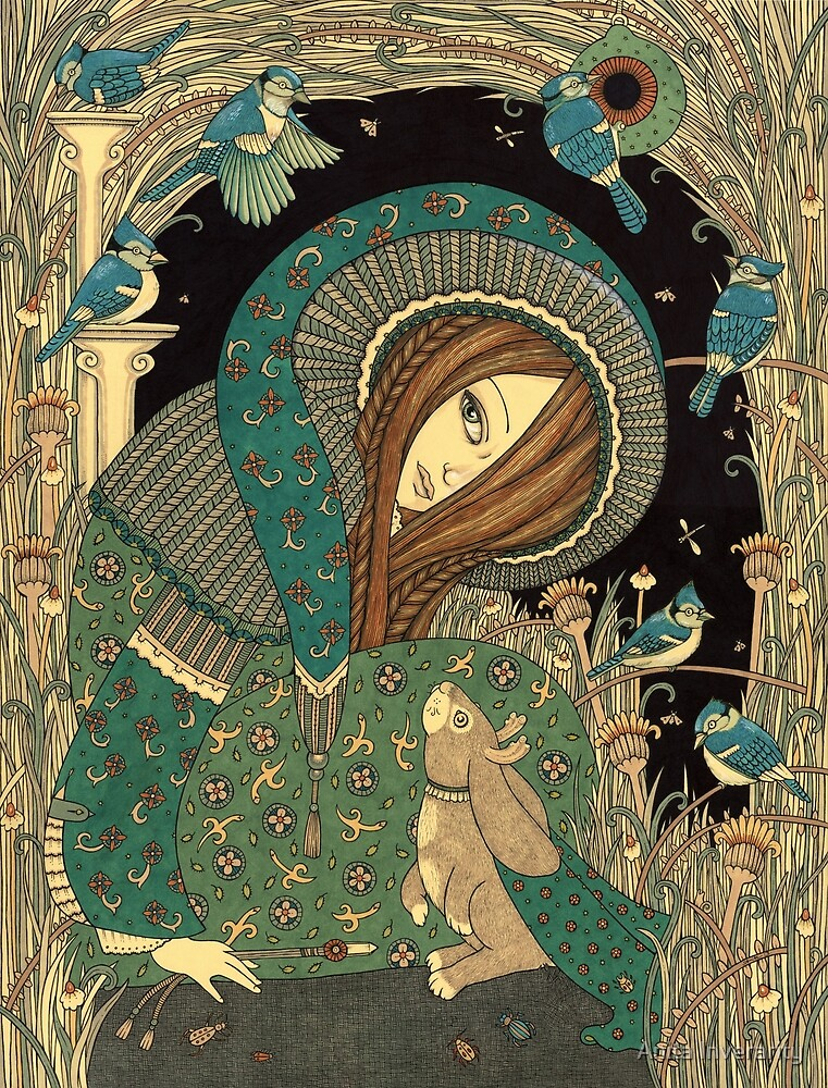 Jackalope Garden by Anita Inverarity