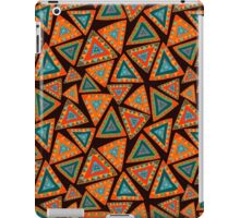 Seamless pattern with hand drawn triangles, colorful, in ethnic style iPad Case/Skin