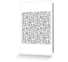 Hand drawn seamless vector pattern with flowers Greeting Card