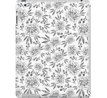 Hand drawn seamless vector pattern with flowers iPad Case/Skin