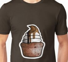 chocolate muffin with whipped cream Unisex T-Shirt