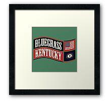 Bluegrass Kentucky Wave Framed Print