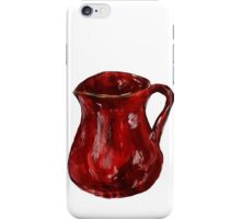 Red Milk Jug Acrylics On Paper Contemporary Painting iPhone Case/Skin