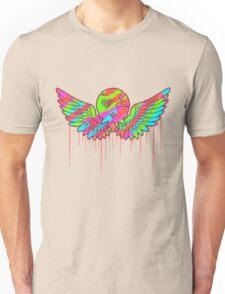 Wing Rainbow Skull Unisex T-Shirt