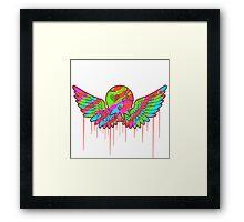 Wing Rainbow Skull Framed Print