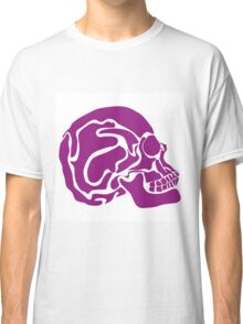 stylized colored human skull Classic T-Shirt