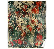 Abstract Green & Red Poster