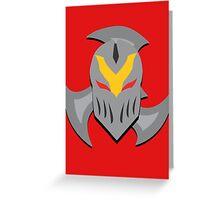 Zed Mask and Shuriken Greeting Card