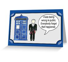 Doctor Who 12 Quotes #1 Greeting Card
